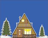 A-frame house — Stock Vector
