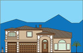Luxury real estate — Stock Vector