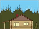 小木屋 — 图库矢量图片