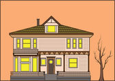 Old fashioned house — Stock Vector