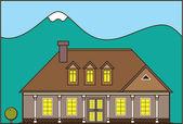 Estate house — Stock Vector