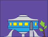 UFO house — Stock Vector
