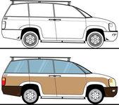 SUV concept — Stock Vector