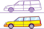 Yellow wagon — Stock Vector