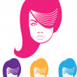 Stock Vector: Hairstyle