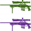 Stock Vector: Sniper rifle