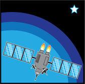 Satelliten — Stockvektor