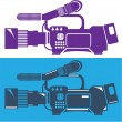 Stock Vector: Video camera