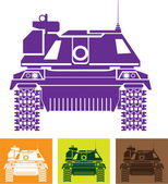 Tank front — Stock Vector