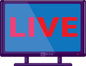 TV live vector — Stock Vector