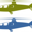 Helicopters choppers S — Stock Vector