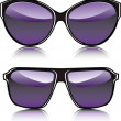 Stock Vector: Purple sunglasses