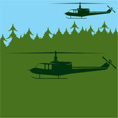 Air Patrol military choppers — Stock Vector