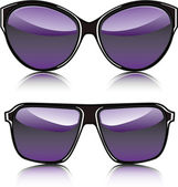 Purple sunglasses — Stock Vector