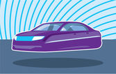 Hovering car — Stockvector