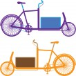 Stock Vector: Utility Bicycle