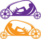 Velocar Recumbent — Stock Vector