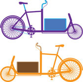Utility Bicycle — Stock Vector