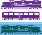 Locomotive vector — Stock Vector