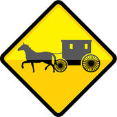 Amish Sign — Stock Vector