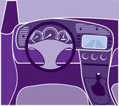 Car Interior vector — Stock Vector