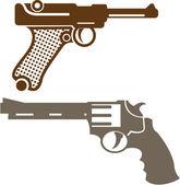 Retro Pistols — Stock Vector