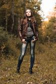 Early autumn portrait of girl — Stock Photo