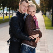 Happy couple outdoor — Foto Stock
