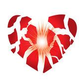 Heart boom — Stock Vector