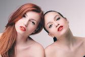 Sensual double portrait — Stock Photo