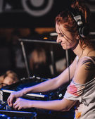 Young Dj Girl — Stock Photo