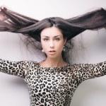 Brunette girl with long hair — Stock Photo