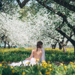 Stock Photo: Blooming girl