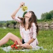 Stock Photo: Enjoying picnic