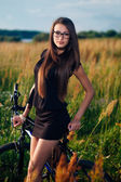 Brunette in glasses — Stock Photo