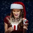 Santa brunette girl — Photo