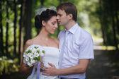 Wedding portrait of couple — Stock Photo