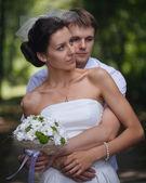Wedding portrait of couple — Foto Stock