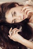 Sensual brunette — Stock Photo