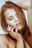 Glamour redhead — Stock Photo