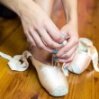 Young Women in Ballet Workout — Stockfoto
