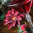 Stock Photo: Holiday Drink Background