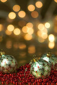 White Ornament Holiday Background — Stock Photo