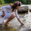 Mother Nature on Lake Shore — Stock Photo #13558304