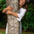 Stock Photo: Mother Nature Hugging Tree