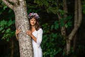 Mother Nature Hugging Tree — Stock Photo