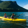 Lake Kayaking Couple — Stock Photo #13714450