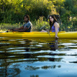 Lake Kayaking Couple — Stock Photo #13714465