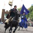 Постер, плакат: RIGA LATVIA AUGUST 21: Member of The Devils Horsemen stunt te