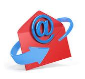 E-mail zeichen und umschlag — Stockfoto